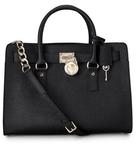 Luxus Tasche HAMILTON von Michael Kors in schwarz für Damen