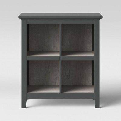 37 2 Carson 4 Bin Organizer Bookcase Gray Threshold Target Bookcase Organization Organizing Bins Bookcase