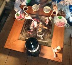 我が家の自作焚き火台テーブル 囲炉裏テーブル比較 自作vsロゴス 囲炉裏テーブル 自作 焚き火台