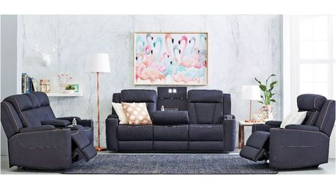 Trinity 3 Seater Fabric Lounge Powered Recliner Couches For Sale Diy Sofa Bed Sofa Couch Bed