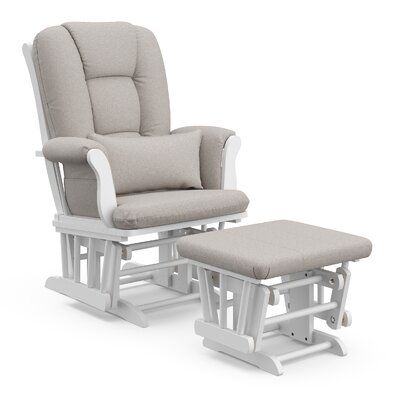 Storkcraft Tuscany Glider And Ottoman Frame Color White