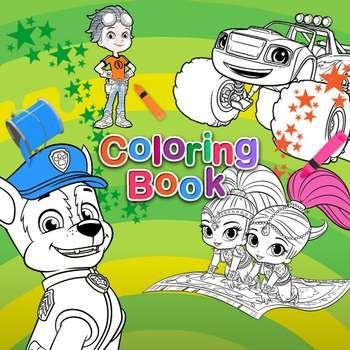 Nick Jr. Coloring Book | Coloring books, Paw patrol full ...
