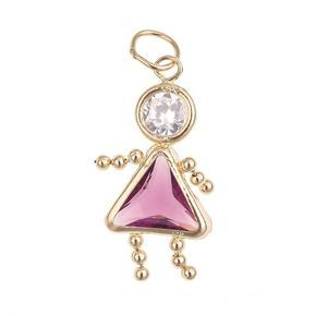 10k Gold Birthstone Babies Girl Charm Girl Charm 10k Gold Individuality Beads
