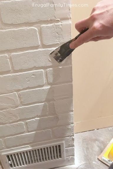 How To Make A Diy Faux Brick Wall Look Real Faux Brick Walls Diy Faux Brick Wall Brick Wall Paneling