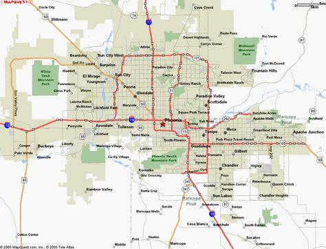 Map Of Phoenix Arizona Maps Pinterest Phoenix Arizona Usa