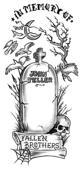 In Memory Of John Teller Fallen Son 3 3 Sons Of Anarchy Tattoos Tombstone Tattoo Sons Of Anarchy