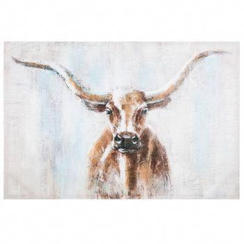 Painted Steer Canvas Wall Decor
