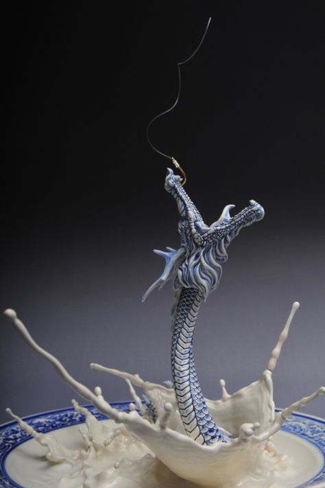 johnson tsang very detailed photograph tutorial process technique tips dragon curl sculpture altered plate splash liquid drops