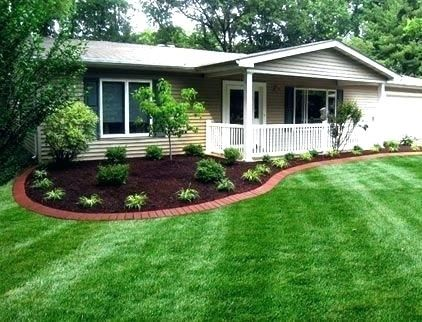 Image Result For Foundation Plantings For A Ranch Style House Home Landscaping Mobile Home Landscaping Inexpensive Landscaping