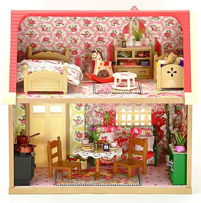 Sylvanian Families Fully Furnished Cath Kidston Decorated House
