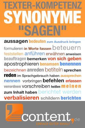 Ein Anderes Wort Fur Sagen Worter Wort Sagen Synonym