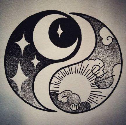 Best Tattoo Moon Symbol Yin Yang Ideas Uncategorized Yin Yang Art Art Drawings Moon Symbols
