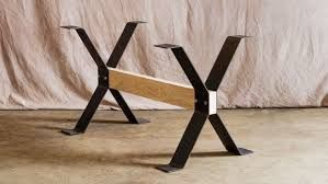 Image Result For Wood Steel Trestle Table Steel Dining Table Legs Dining Table Legs Steel Dining Table