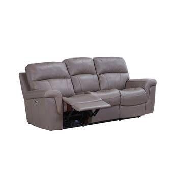 Faulks Leather Reclining Sofa Leather Reclining Sofa Reclining