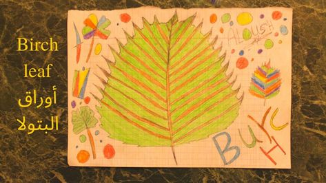 Burch Leaf Or Betula أوراق البتولا Colored Pens Make It Yourself Drawings