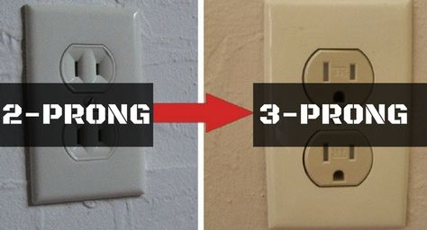 2 Prong Vs 3 Prong The Basic Image Shows The Difference Between