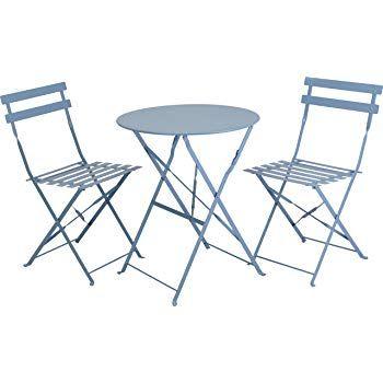 Blau Metall Stuhlen Stuhle Korbstuhle Metallstuhle