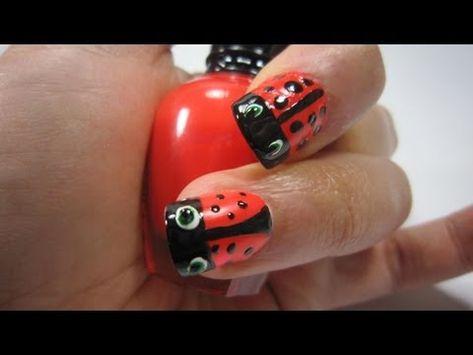 Nail art lady bug Tutorial   #Nailart  Like,Repin Share :)