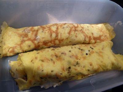 Anette`s lavkarboblogg: Fylte pannekaker med bacon