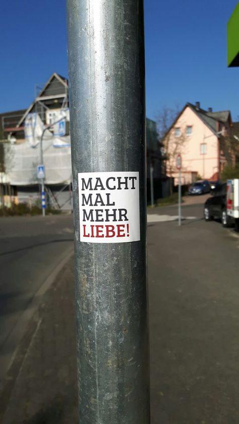 #Aufkleber #liebe #macht #mal #mehr #Siegen #Sticker , Macht mal mehr Liebe! Siegen Aufkleber streetart sticker