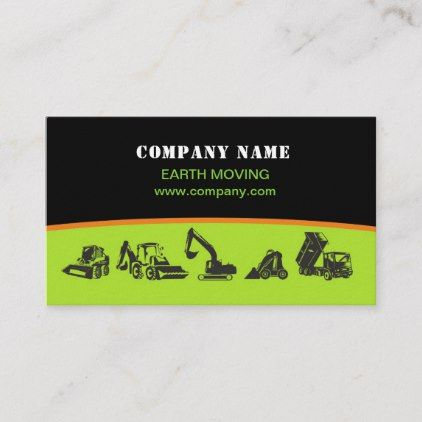 Earth Moving Excavator Landscaping Business Card Business Template Gifts Unique Cust Landscaping Business Landscaping Business Cards Lawn Care Business Cards