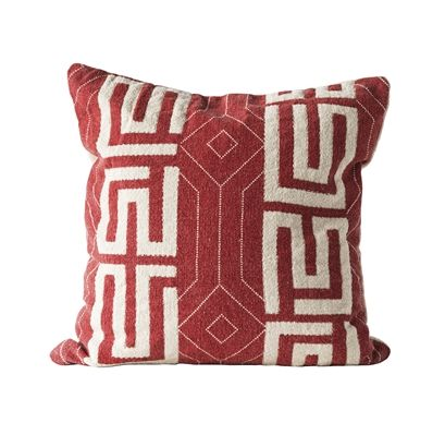 Bloomingville Rotes Kissen Mit Weissem Muster 50x50cm Rote