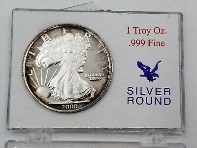 2000 Walking Liberty Silver Round Dawn Of A New Millennium 1 Troy Oz 999 Bu Ebay Silver Rounds Silver Bullion Liberty