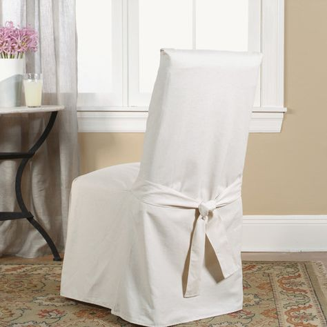 cotton duck box cushion dining chair slipcover for the home rh pinterest com