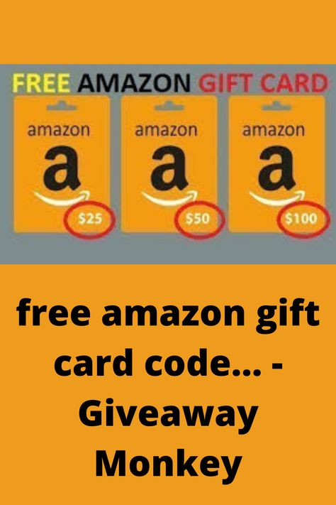 Free Amazon Gift Card Code Giveaway Monkey In 2021 Amazon Gift Card Free Amazon Gift Cards Free Amazon Products
