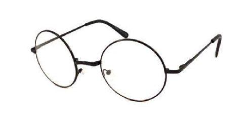 JOHN LENNON Costume Round Retro Large Metal Frame Clear Lens Eye Glasses NEW