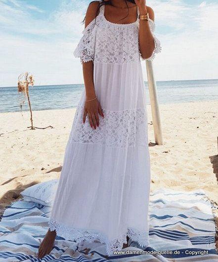 Maxi Kleid Hippie Ethno Übergröße Lose Lange Ärmel Quaste Strand Sommerkleid