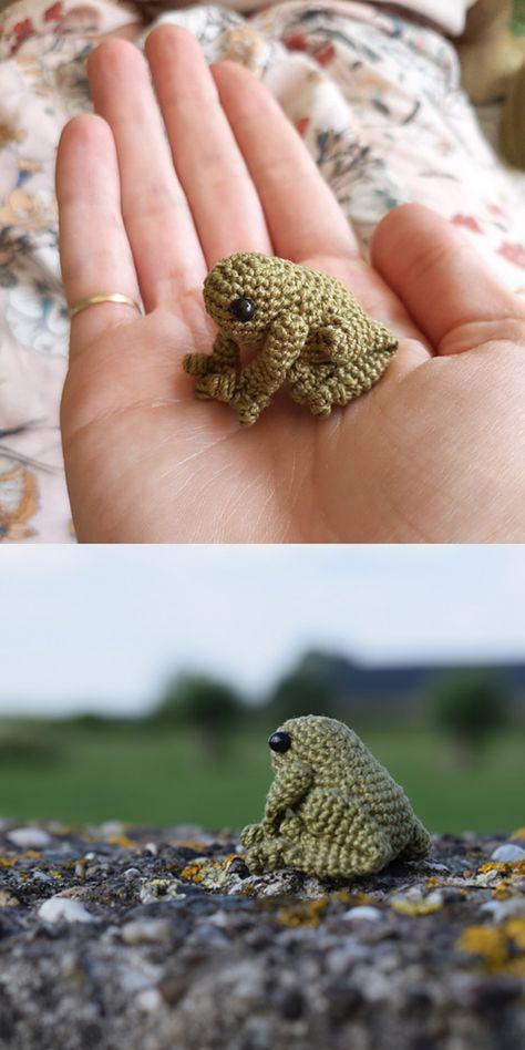 Crochet Animal Patterns, Stuffed Animal Patterns, Crochet Patterns Amigurumi, Crochet Blanket Patterns, Crochet Animals, Crochet Dolls, Crochet Stitches, Knitting Patterns, Crochet Frog