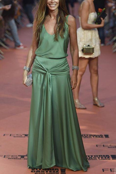 Sexy Green Sleeveless Plain Maxi Dress