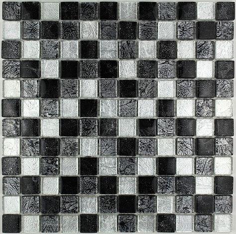 Lux Noir 23 Mosaique Verre Verre En Mosaique Carrelage
