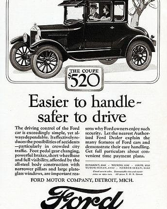A 1926 Ford Model T Advertisement Sportscar Vehicle Musclecar