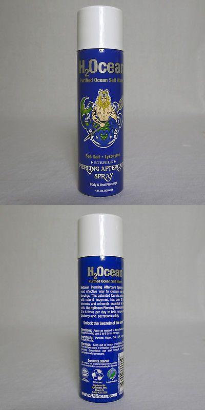 H2ocean Natural 4 Fl Oz Body Oral Piercing Aftercare Salt Water