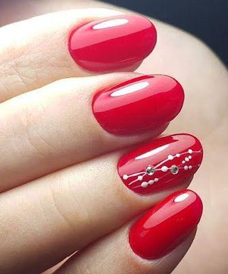 Uñas De Novia Rojas Diseños De Uñas Rojas Uñas De Gel