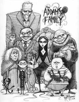 The Addams Family By Kurtmandersen Family Cartoon Family Drawing Family Art
