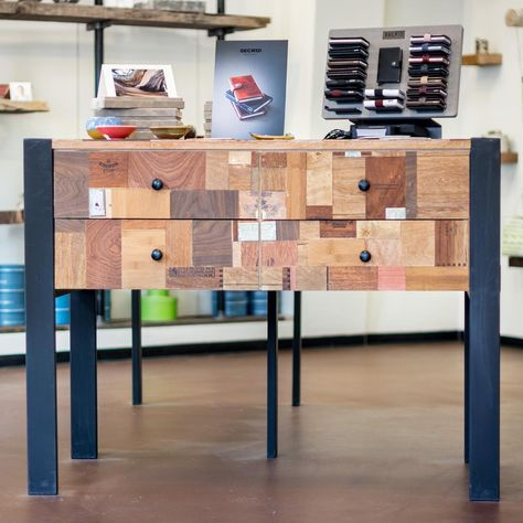 one of six display tables we made for bhodystore in santacruz out rh pinterest com