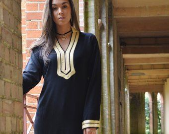 Hiver Mariam Black Caftan Kaftan as Giftswear, resortwear