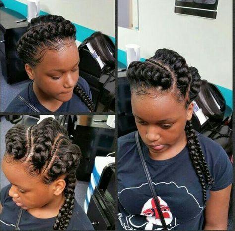 Under Braids Natural Hair Styles Cornrow Hairstyles Under Braids