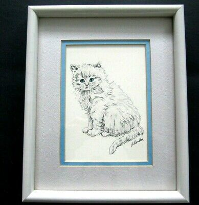 Pussy Cat Kitten Blue Canvas Wall Art Picture Print