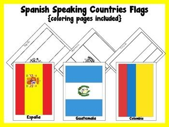 free flags of latin america coloring pages printables free lessons teaching resources pinterest latin america flags and hispanic heritage