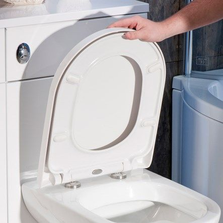 Vellamo D Shaped Soft Close Toilet Seat With Quick Release Hinges