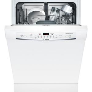 Bosch Ascenta Front Control Tall Tub Dishwasher In White With Hybrid Stainless Steel Tub 50dba She3ar72uc The Home Depot Built In Dishwasher Dishwasher White Steel Tub