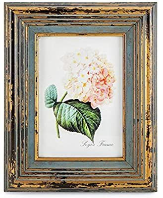 Amazon Com Calhouse 5x7 Picture Frames Antiqued Embossed With Mat Tabletop Wall Display Gold B Blue Picture Frames Gold Picture Frames Antique Picture Frames 5 x 7 picture frames