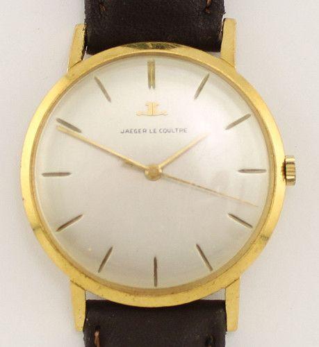 Vintage Jaeger Le Coultre 18k Yellow Gold Gents Wrist Watch