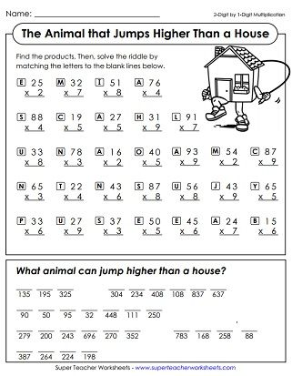 Multiplication Worksheets Math Riddles Multiplication Worksheets Fun Math