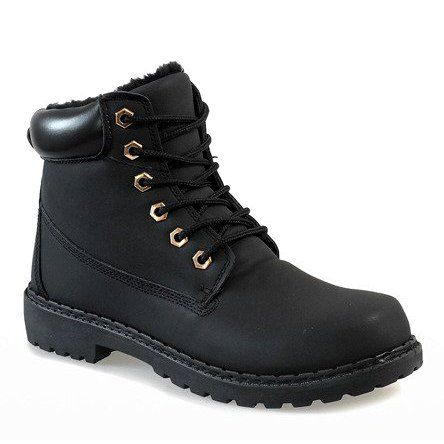 Czarne Ocieplane Traperki B1819 1 Shoes Timberland Boots Hiking Boots