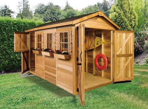 Cedarshed | Boathouse 8-Ft X 16-Ft Cedar Storage Shed | Rona